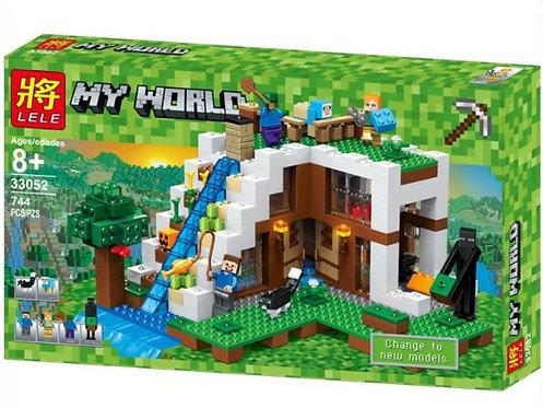 Коробка LELE Minecraft База на водопаде | 21134 | IQREPLICA