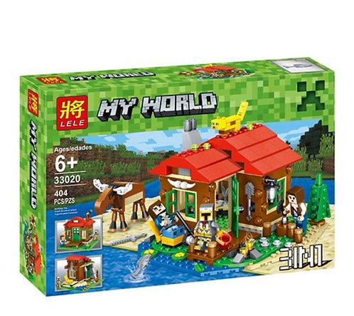 Коробка аналог Lego Minecraft Охотничий домик | LEGOREPLICA