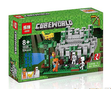 Коробка аналог Lego Minecraft Храм в джунглях | 21132 | LEGOREPLICA