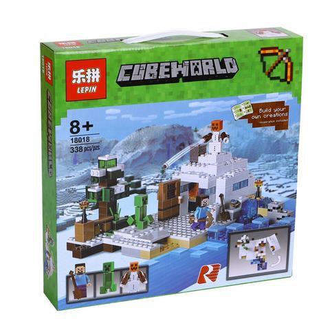 Коробка аналог Lego Minecraft Снежное убежище | 21120 | LEGOREPLICA