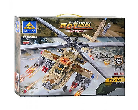 Коробка KAZI Military Series Ударный вертолёт Apache AH-64   IQREPLICA