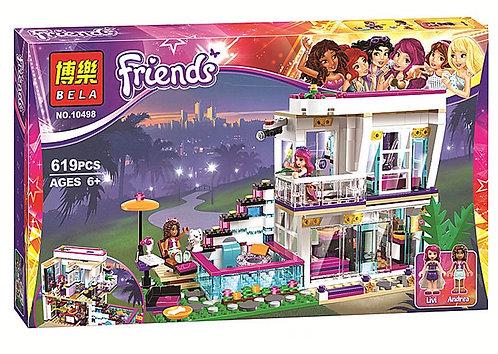 Коробка аналог Lego Friends Поп-звезда: дом Ливи   41135   LEGOREPLICA