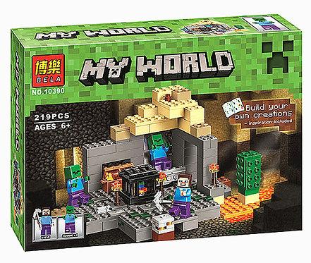 Коробка аналог Lego Minecraft Подземелье   21119   LEGOREPLICA