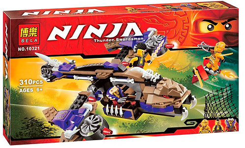 Коробка аналог Lego Ninjago Вертолетная атака Анакондраев | 70746 | LEGOREPLICA