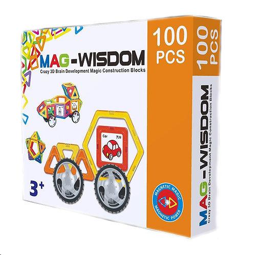 Магнитный конструктор Mag Wisdom Wow Set 100 деталей