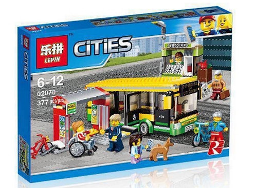 Коробка LEPIN Автобусная остановка   60154   IQREPLICA