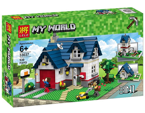 Коробка LELE Minecraft Загородный дом 3 в 1 | 5891 | IQREPLICA