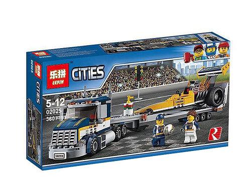 Коробка аналог Lego City Грузовик для перевозки драгстера | 60151 | LEGOREPLICA