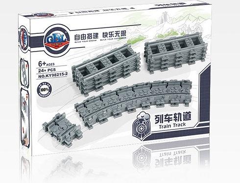 Коробка KAZI Train Набор рельс: гибкие пути | 7499 | IQREPLICA