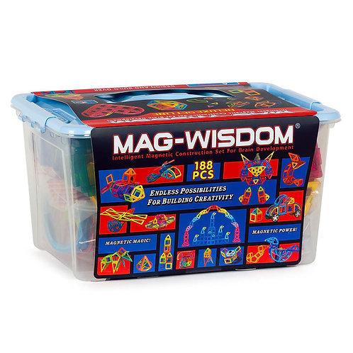 Магнитный конструктор Mag Wisdom Deluxe Set line 188 деталей | LEGOREPLICA