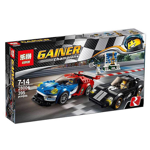 Коробка аналог Lego Racers Series 2016 Ford GT & For d GT40 1966   75881   LEGOREPLICA