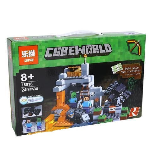 Коробка аналог Lego Minecraft Пещера | 21113 | LEGOREPLICA