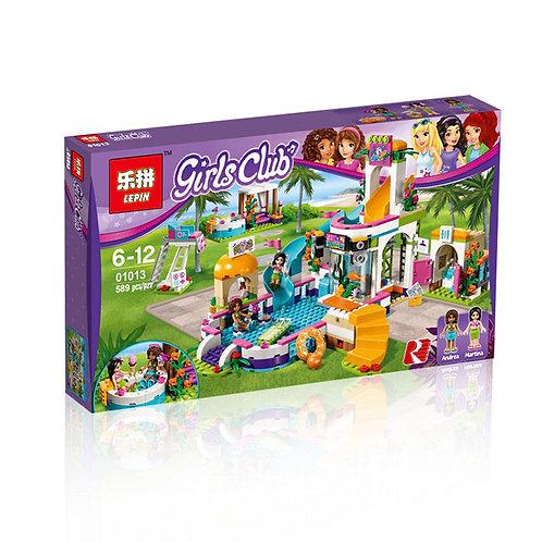 Коробка аналог Lego Friends Series Летний бассейн Хартлейк | 41313 | LEGOREPLICA