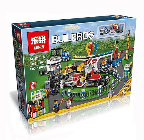 Коробка аналог Lego Creator Передвижной парк аттракционов | 10244 | LEGOREPLICA