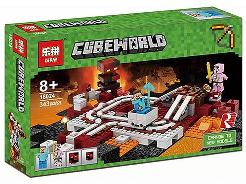 Коробка аналог Lego Minecraft Подземная железная дорога | 21130 | LEGOREPLICA