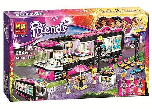 Коробка аналог Lego Friends Поп звезда: гастроли | 41106 | LEGOREPLICA