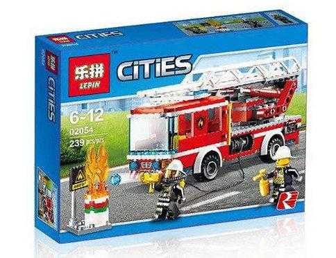 Коробка LEPIN Пожарный автомобиль с лестницей | 60107 | IQREPLICA