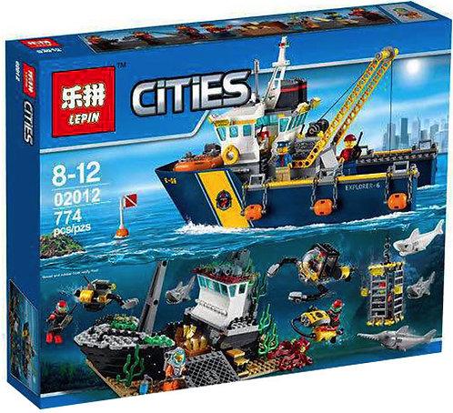 Коробка аналог Lego City Корабль исследователей морских глубин   60095   LEGOREPLICA
