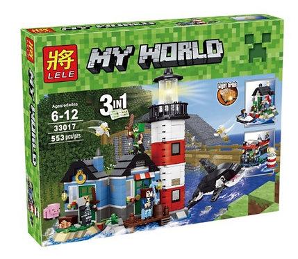 Коробка LELE Minecraft Маяк 3 в 1 | IQREPLICA