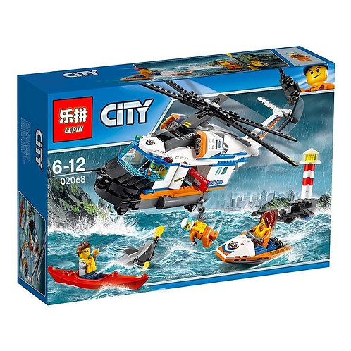 Коробка LEPIN Сверхмощный спасательный вертолёт   60166   IQREPLICA