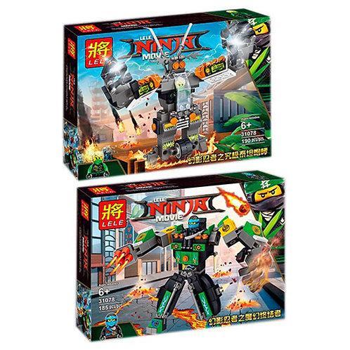 Конструктор LELE Боевые роботы ниндзя | 2 набора