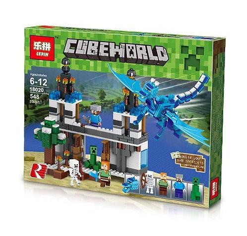 Коробка аналог Lego Minecraft Нападение Голубого Дракона | LEGOREPLICA