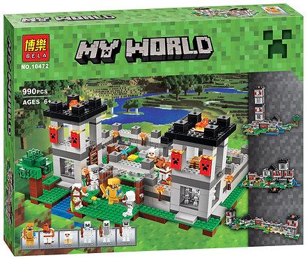 Коробка аналог Lego Minecraft Большая Крепость 4 в 1 | 21127 | LEGOREPLICA
