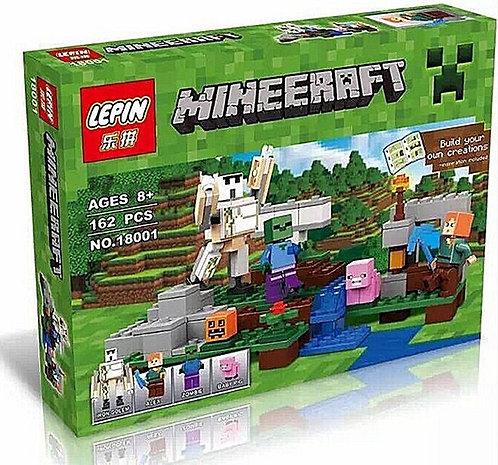 Коробка аналог Lego Minecraft Железный голем   21123   LEGOREPLICA