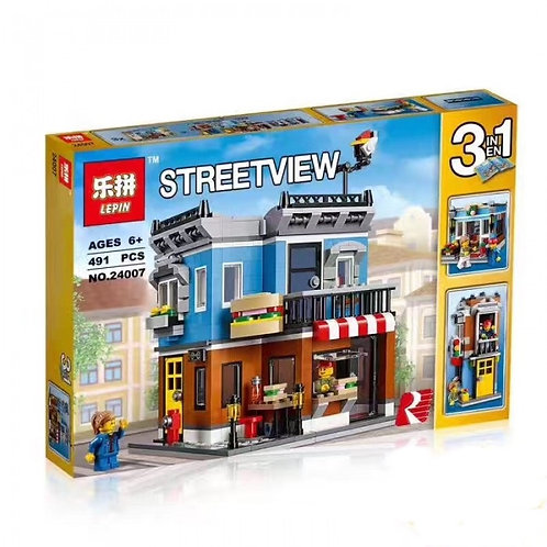 Коробка LEPIN Creator Series Магазинчик на углу 3 в 1 | 31050 | IQREPLICA