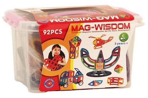 Магнитный конструктор Mag Wisdom Brain up 92 детали | LEGOREPLICA