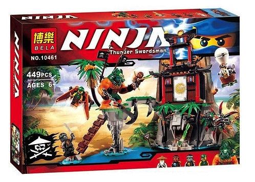 Коробка аналог Lego Ninjago Остров тигриных вдов | 70604 | LEGOREPLICA