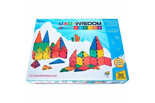 Магнитный конструктор Mag Wisdom 3D Blocks 32 детали | LEGOREPLICA