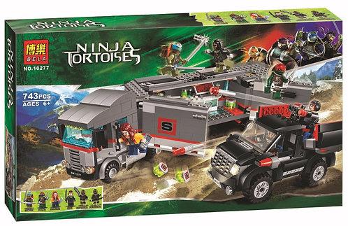 Коробка аналог Lego TMNT Большая снежная машина для побега | 79116 | LEGOREPLICA