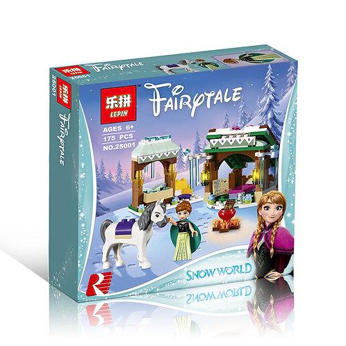 Коробка аналог Lego Disney Зимние приключения Анны   41147   LEGOREPLICA