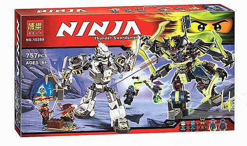 Коробка аналог Lego Ninjago Битва механических титанов   70737   LEGOREPLICA