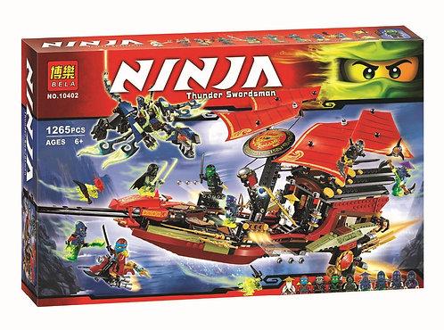 "Коробка аналог Lego Ninjago Корабль ""Дар Судьбы"". Решающая битва | 70738 | LEGOREPLICA"