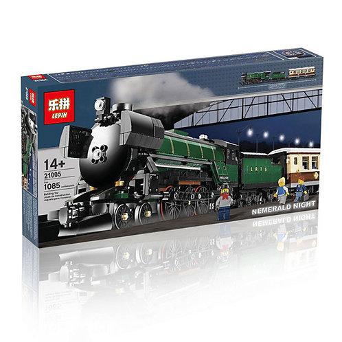 Коробка аналог Lego Creator Поезд «Изумрудная ночь» | 10194 | LEGOREPLICA
