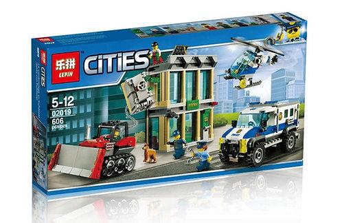 Коробка LEPIN City Series Ограбление на бульдозере | 60140 | IQREPLICA