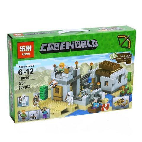 Коробка аналог Lego Minecraft Пустынная станция | 21121 | LEGOREPLICA