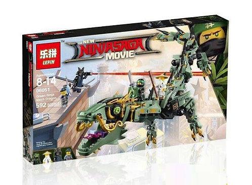 Коробка LEPIN Ninjago Series Механический Дракон Зелёного Ниндзя | 70612 | IQREPLICA