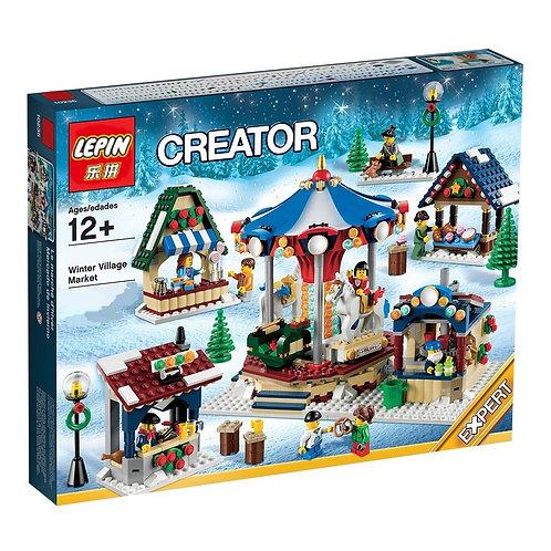 Коробка LEPIN Зимняя ярмарка в деревне | 10235 | IQREPLICA