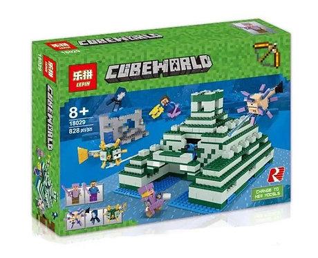 Коробка LEPIN Minecraft Пирамида в океане | 21136 | IQREPLICA
