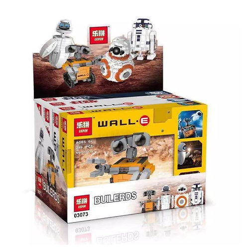 Коробка LEPIN Мини Wall-E, Eva, BB-8, R2D2 | 4 в 1 | IQREPLICA