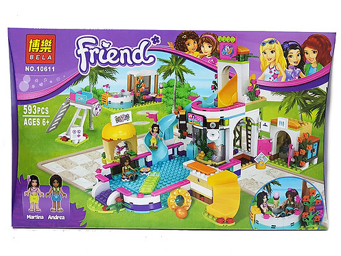 Коробка BELA Friends Series Летний бассейн Хартлейк   41313   IQREPLICA