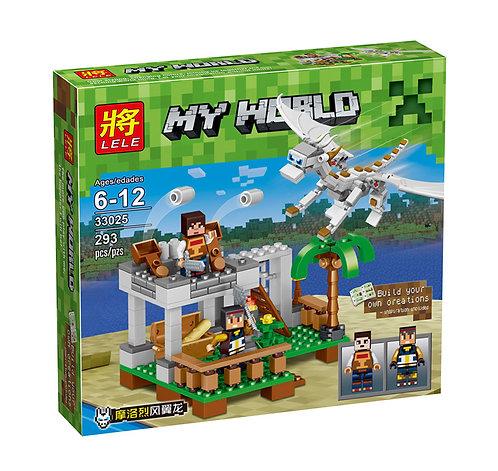 Коробка аналог Lego Minecraft Нападение Белого Дракона | LEGOREPLICA