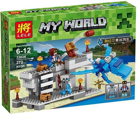 Коробка аналог Lego Minecraft Голубой Дракон | LEGOREPLICA