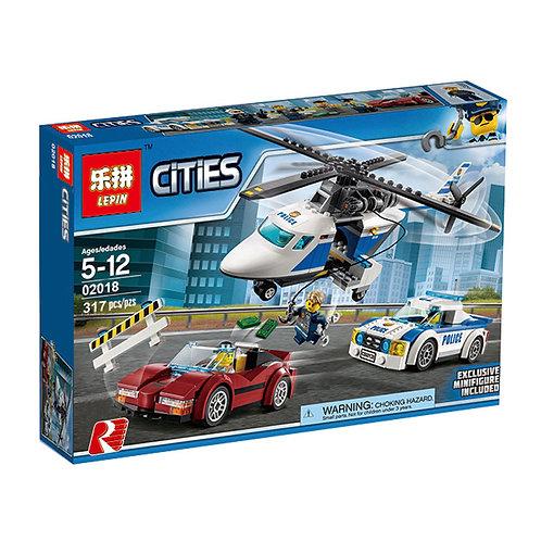 Коробка аналог Lego City Стремительная погоня | 60138 | LEGOREPLICA