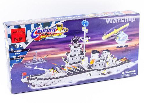 Коробка BRICK Combat Zone Военный корабль   IQREPLICA