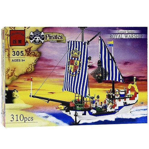 Коробка BRICK Pirates Королевский военный корабль   IQREPLICA