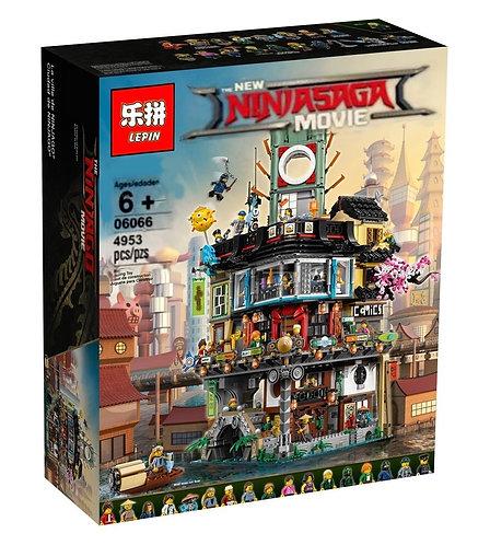 Коробка LEPIN Ninjago Series Ниндзяго Сити   70620   IQREPLICA